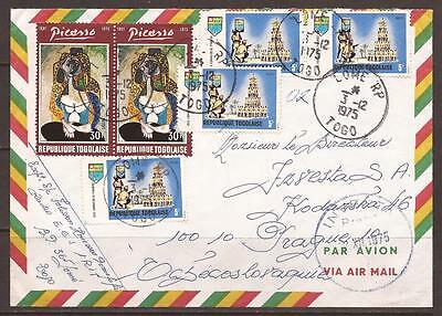 Togo / Africa. 1975. Air Mail Cover. Lome To Czechoslovakia.