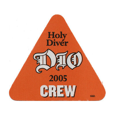 Dio authentic Crew 2005 tour Backstage Pass