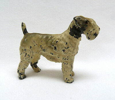 Vintage 1930's - 40's Cast Lead Metal Airedale Terrier Dog Figurine