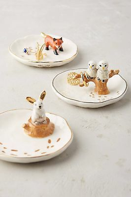 NEW Anthropologie Rabbit Bunny Hare Forestland Trinket Ring Jewelry Dish