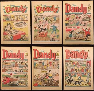 The Dandy Comic x 9 Issues - DC Thomson - 1970-1976