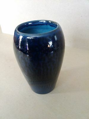 Rare Persian Blue Marblehead Pottery Cabinet Vase