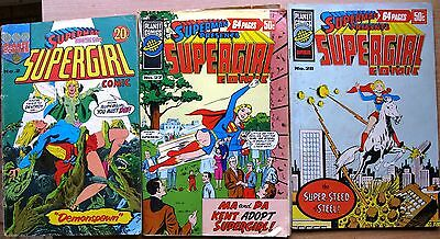 3 x Vintage Original Australian SUPERGIRL Comic PLANET COMICS #2 GORDON & GOTCH