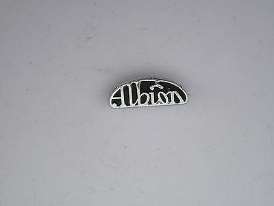 Albion enamel pin badge old. clean condition.