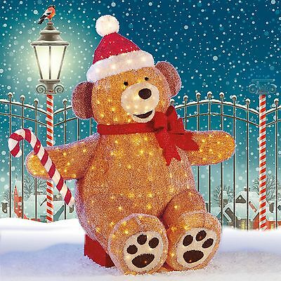 7 ft LED Fabric Sitting Bear Christmas Indoor / Outdoor Decoration