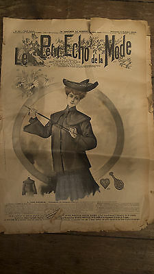 Vintage Antique French fashion newspapers *early 1900s*