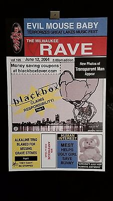 Alkaline Trio Mest Blackbox Milwaukee, The Rave 6/12/04 Concert Poster