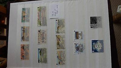 STAMPS - ISLE OF MAN MIX  x 13  used stamps
