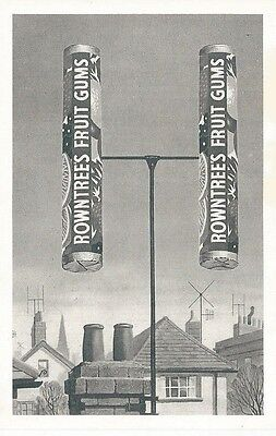 ADVERTISING POSTCARD, ROWNTREE'S FRUIT GUMS, REPRO OF A 1950s CARD, NOSTALGIA