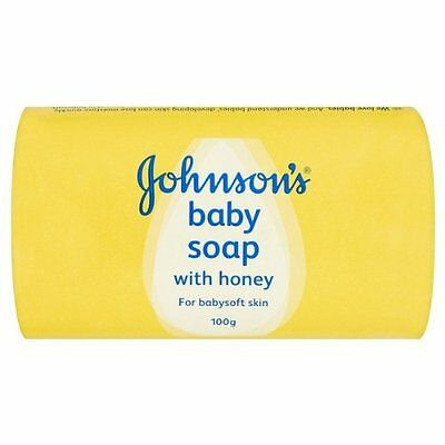 8 x 100g Bars Johnsons Baby Soap With Honey Proven Gentle Mild - Free P&P