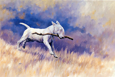 BULL TERRIER ENGLISH DOG ART LIMITED EDITION PRINT Paul Doyle The Branch Manager