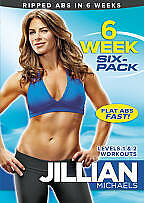 JILLIAN MICHAELS - 6 WEEK SIX-PACK DVD (2010) Workout Exercise Fitness NEW