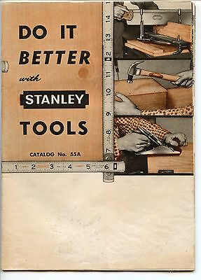 1955 Stanley Tool Catalog, 55A, Planes, Levels, etc.
