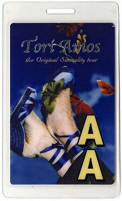 Tori Amos authentic 2005 concert tour Laminated Backstage Pass