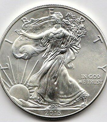 "2015 United States 1oz Silver (.999)  ""American Silver Eagle"" Dollar Coin"