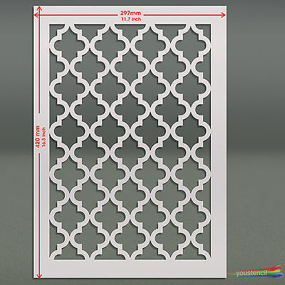 Large Moroccan  Stencil Template #6 : For Walls & Fabric Decoration: ST58A3