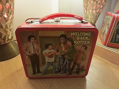 Vintage 1977 Welcome Back Kotter  Metal Lunch Box No Thermos