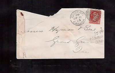 CANADA 3 Cents # 37 on 1883 Cover !!