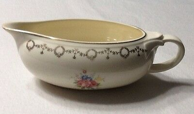 Taylor Smith Taylor Gravy Boat Dish Conversation Pink Rose Serving Pouring