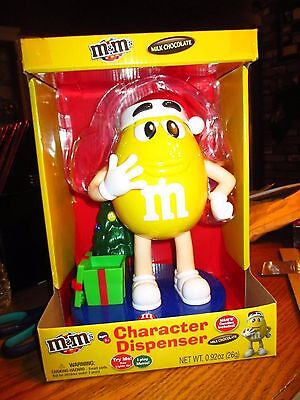 2016 Yellow M&m Character Musical Christmas Candy Dispenser Nip