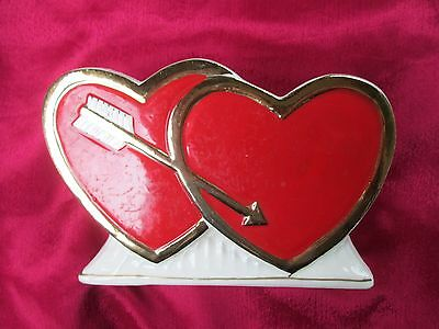 Vintage Valentines Day ~Double Hearts Planter