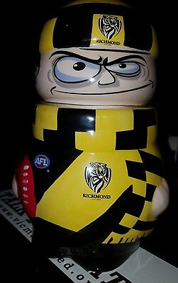 Licenced with AFL; Collectable Ceramic Jar. Tigers.