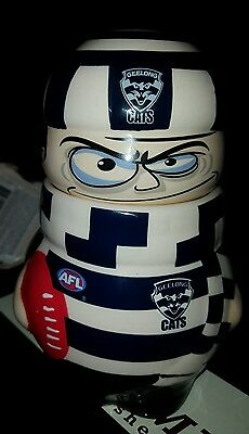 Licenced with AFL; Collectable Ceramic Jar. Cats.