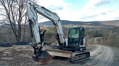 2010 Bobcat E80 Excavator Cab Heat A/c Thumb Low Hrs Ready 2 Work In Pa We Ship!