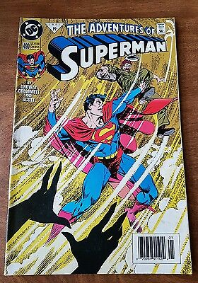 The Adventures  Of Superman #490 Dc May 1992 Fine