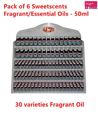 6x 50ml Australian Made Essential Oil Variety Sweetscents Fragrant Oils Bulk