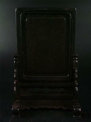 Antique Old Chinese Rosewood Hand Carved Table Screen Statue GOOD CONDITION