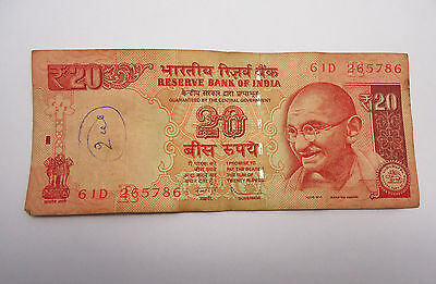 Rs 20 Rare 786 Holy Number Indian Rupees Note Lucky Number 786