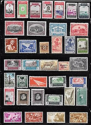 lot 68 Spain area stamps all mnh