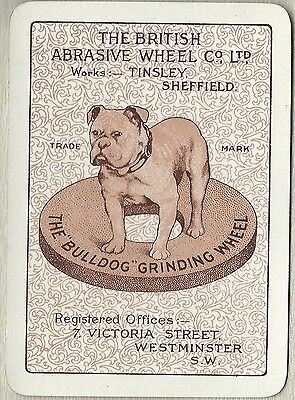 Vintage Playing Swap Cards  Old Wide Advertising  THE BULLDOG GRINDING WHEEL