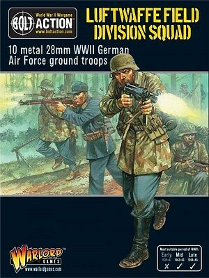 Warlord Games Bolt Action Luftwaffe Field Division Squad 28mm Miniatures.