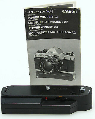 Canon Power Winder A2 for A series 35mm film cameras, instructions #354532