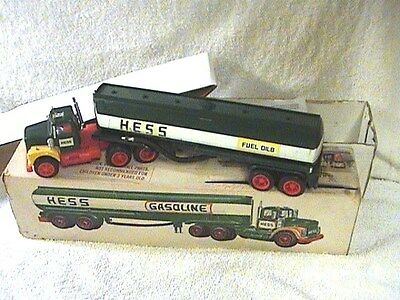 1972 Hess Oil Tanker -- ALL ORIGINAL! WITH FAIRLYGOOD LOOKING STICKERS--!!