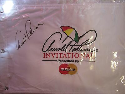 Arnold Palmer Hand Signed Autographed Invitational Flag Bay Hill