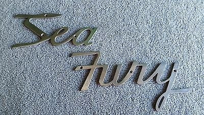 """NICKEL PLATED OVER BRASS EARLY BOAT NAME """" SEA FURY """" (c1940s) NCIE CONDITION."""