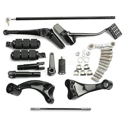 Black Forward Controls Foot Pegs Kit Set For 14-16 Harley XL Sportster 1200 883