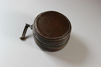 *** Deluxe leather centrepin / fly reel case***