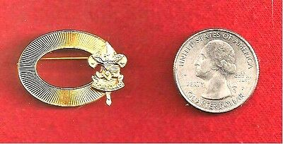 """VINTAGE BSA NICE LADY SCOUT PIN~BROOCH~ 1 1 /4"""" X  7/8"""" OVAL, 1st CLASS~ MOTHER"""