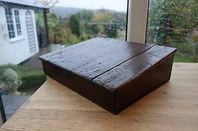 Antique Oak Bible Box Slanted Top (See Pictures)