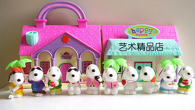 "10pcs PEANUTS Figure Playset Toppers Snoopy pvc 6cm(2"")Toy Doll Christmas gift"