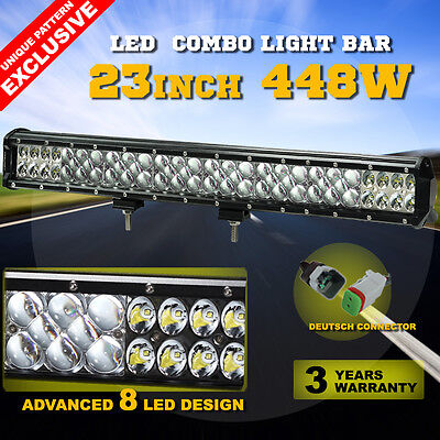 23inch 448W Philips LED Light Bar Flood Spot Combo Work Driving Lamp Lumileds