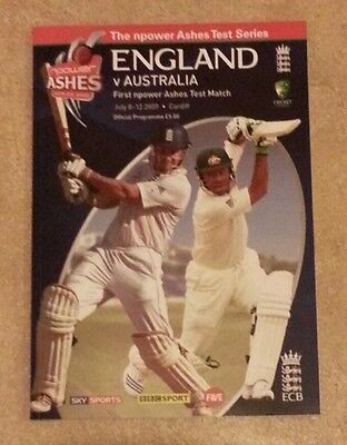 UNREAD Ashes July 2009 - England v Australia - Cardiff cricket programme