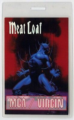 Meat Loaf authentic 1993-1995 concert tour Laminated Backstage Pass