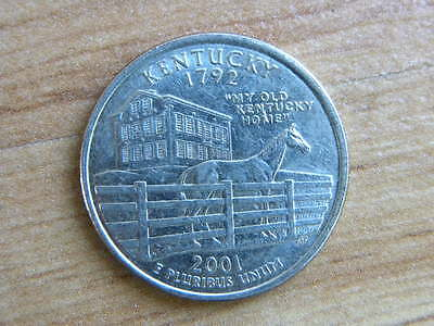 United States Commemorative Quarter Dollar Coin Kentucky 2001 D Mint 25Cents