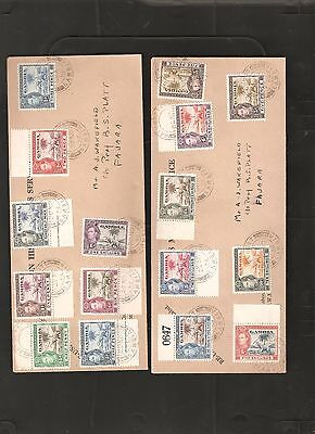 Gambia 1938 Set to 10/- on 2 Covers