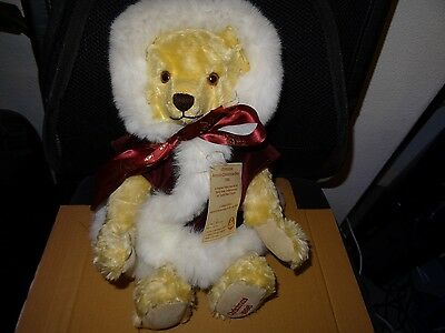 Hermann Christmas Teddy Bear 1996 Limited Edition